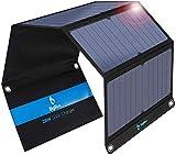 BigBlue ソーラーチャージャー 28W ソーラーパネル ソーラー充電器 3USBポート最大4.8A出力防水 太陽光で充電 バッテリーパック ソーラーパネル4枚搭載 地震 災害時 アウトドア バッテリーパックiPhone/iPad/Samsungおよび他のスマートホンと互換性あり(28w)