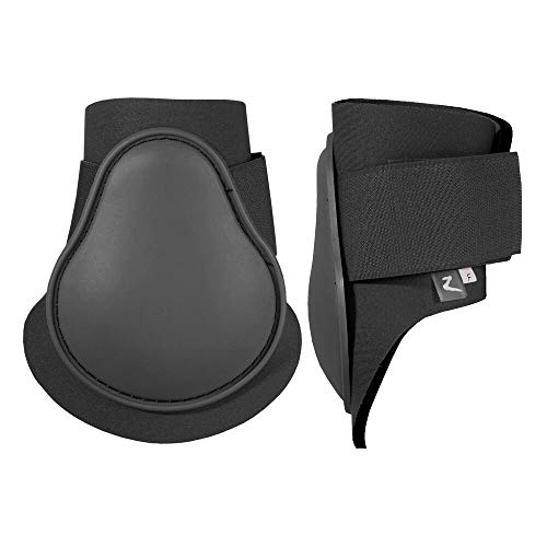 HORZE Protective Lightweight Adjustable Horse Fetlock Boots (Sold in Pairs) - Black - Horse