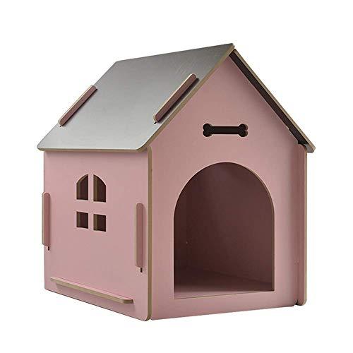 Grote Hondenhok Kennel, Sterke Indoor Buiten Honden Dierenkennel, Huisdier Veilig Huis, voor Kat Hond Verbeterde Slaap (Kleur: Geel, Maat: S (40 & Keer; 39 & Keer; 45 cm)) zacht