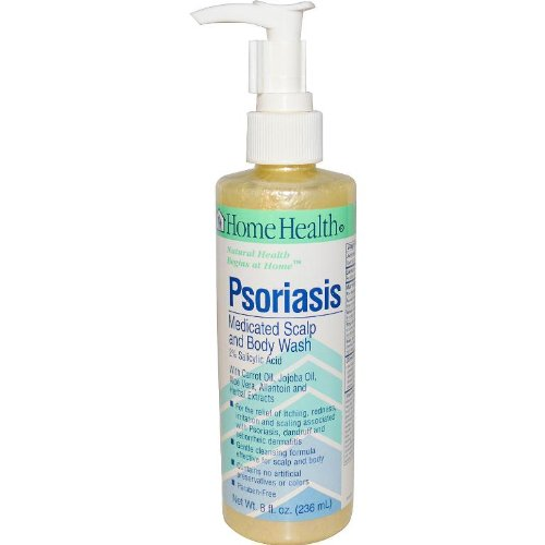 Home Health Psoriasis Medicated Scalp & Body Wash - 2% Salicylic Acid, 8 fl oz - Relieves Itching, Redness & Irritation from Dandruff & Seborrheic Dermatitis - Non-GMO, Paraben-Free,Vegetarian