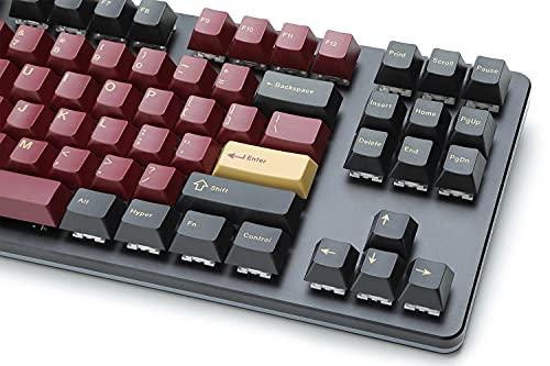 DROP GMK Redsuns Red Samurai Custom Mechanical Keyboard Keycap Set - 153-keys, Doubleshot, Cherry Profile, for 60%, 65%, TKL, Full-Size Layouts, and More (Red, Base Kit) (MDX-35037-5)