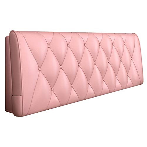 Cuscino Testiera-ZHML Cuscino Testiera Testiera Schienale Cuscino Testiera Letto Matrimoniale-Luce Pelle Rosa Schienale Cuscino ZHML (Color : Light Pink, Size : with headboard -90cm)