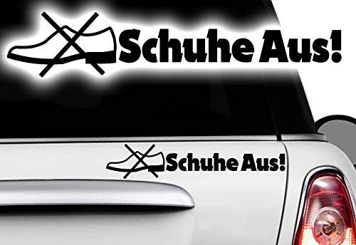 HR-WERBEDESIGN 1x Schuhe aus LKW Aufkleber Warnung Truck Hinweiß Sticker Achtung Info