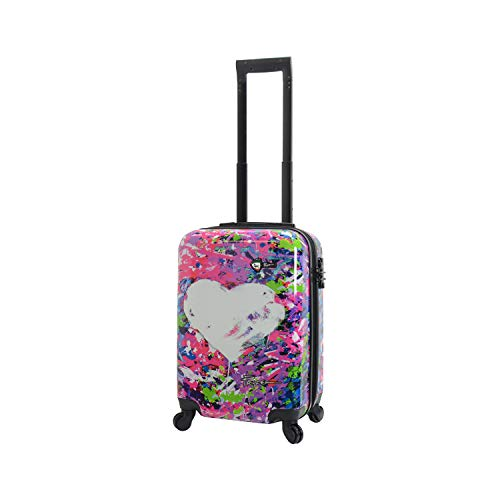 Mia Toro Prado-Peace Love H.iness Hardside Spinner Luggage Carry, One Size
