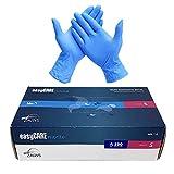 EasyCare - Guantes De Nitrilo Desechables, Color Azul, Antivirus, Sin Polvo, Caja de...