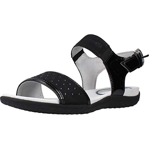 Zapatos de Mujer Sandalias GEOX D Sand. Vega A en Cuero Negro D92R6A-002AU-C9999