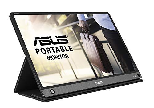 ASUS MB16AHP モバイルモニター モバイルディスプレイ 薄さ9mm・軽量860g、USB/HDMIで簡単接続 15.6インチ フルHD IPS バッテリー内蔵
