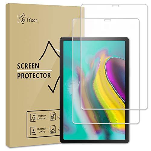 GiiYoon 2 Stück Schutzfolie Kompatible mit Samsung Galaxy Tab S5e/S6 (10.5 Zoll 2019), Panzerglas Displayschutzfolie für Samsung T720/T725