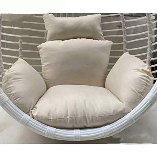 CHHD Swing Basket Cushion Pads, Furniture Outdoor Patio Wicker Basket Hanging Chair Swing Chair Tear Drop Egg Chair Cushion (Color: Blue) (NO Chair)