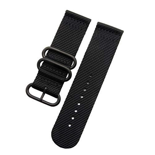 Uhrenarmband aus Nylon für Garmin Fenix 5X/3/Fenix 3 HR-Smartwatch, 26 mm, Armbänder mit Werkzeug (schwarz)