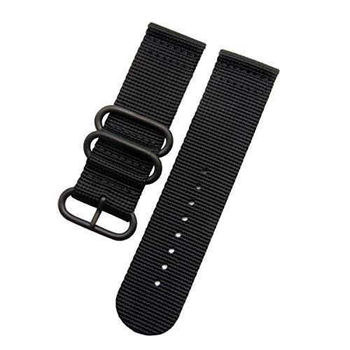 Correa de nailon para reloj inteligente Garmin Fenix 5X/ 3 / Fenix 3 HR 26mm con herramientas (negro)