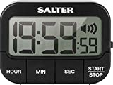 Salter 355 BKXCDU Kitchen Digital Display Count up or Countdown Timer, Adjustable Loud Beeper, Large Start/Stop Button, Memory Function, Magnetic or Self Standing-Black, Plastic