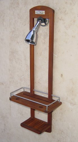 AquaTeak The Original Moa Small Teak Shower Caddy
