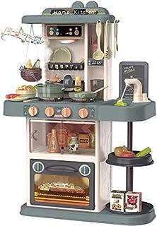 TOPQSC Jeu de cuisine pour enfants en plastique ABS avec accessoires de jouets, Cuisine Dinette Enfant Jouet pour la cuisi...