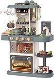 TOPQSC Pequeño Chef Cocinita de Juguete,Uego para Niños de Cocina de Plástico ABS para Niños con Accesorios de Juguete, el Mejor Juego de Cocina de Cocina, Simulación de Rol Juego de Cocina