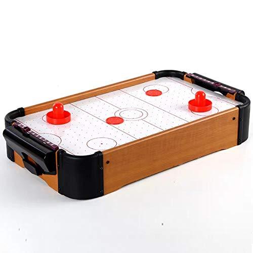 WHCQ Airhockeytisch, Mini-Air-Hockey Für Zuhause, Schwebe-Spielfeld Tisch, Luftkissen Spielzeug, 2 Schlägerpads Pucks Spiel, 51 X 31 cm