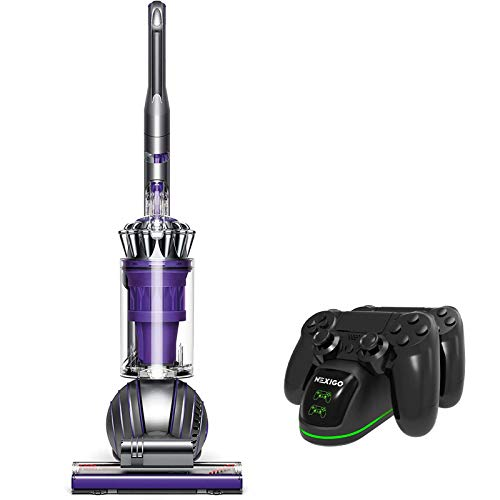 Dyson Upright Vacuum Cleaner Holiday Bundle, Bagless Ergonomic, Rechargeable, Carpet Cleaning, Ball Animal 2, Iron/Purple + NexiGo PS4 Controller Charging Station Bundle