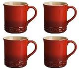 Le Creuset PG90433A-0067 Stoneware Mug, 14 oz, Cerise