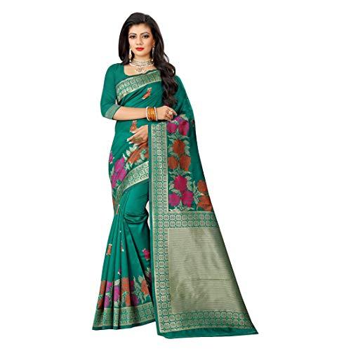 Ontwerper Indian Bollywood Art Zijde Gedrukt Saree Bruiloft Casual Wear Party Feestelijke Vrouwen Sari Blouse 9558