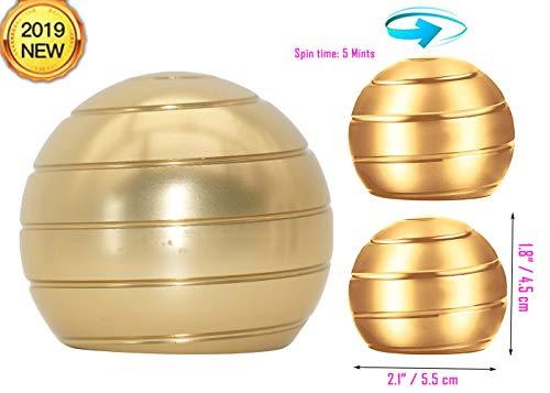 ITTA Fidget Spinner Toy, Kinetic Desk Toys,Full Body Optical Illusion Stress Relief Ball,Gifts for Men,Women,Kids (2.1' x 1.8', Gold)