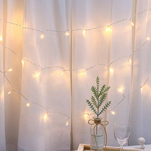 Great Features Of Glumes LED String Lights – 16.4 ft USB Powered Copper Wire Starry Fairy Lights for Bedroom,Garden,Christmas,Parties,Wedding,Centerpiece,Decoration(Warm White)