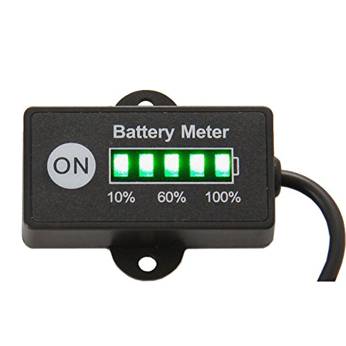 Mini Lead Acid Batterie Anzeige Indikator Batterie Stromzähler 12 V 24 V Gabelstapler Golf Elektrofahrzeug Power Anzeige Elektrische Trolley Elektrische Rad 5 Segment LED Bleibatterie Anzeige Detektor