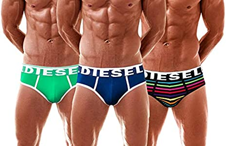 Diesel 3 Pack Slips Andre True-Blue, Small