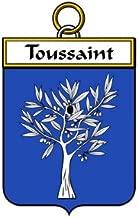 Toussaint Family Crest Coat of Arms Mouse Pad