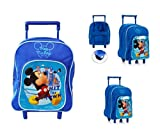 Takestop Sac à Dos à roulettes Mickey Mouse Disney pour école Maternelle Maternelle pour Enfants Bleu Bleu Piccolo...