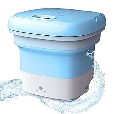 Portable Washing Machine, Blu-Ray Mini Foldable Washing Machine Antibacterial Sterilization Automatic Turbo Mobile Compact Small Washing Machines