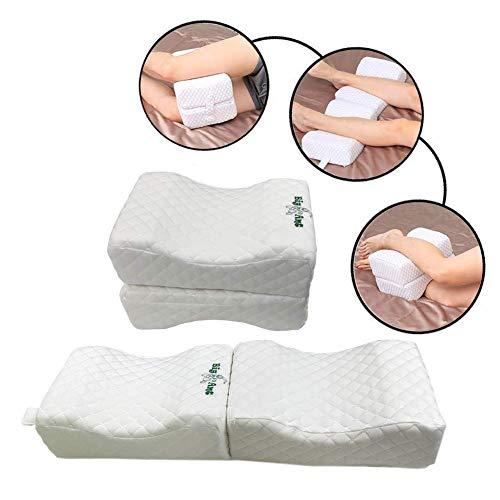BigAnt - Almohada de rodilla, cómoda almohada para piernas - Almohada de espuma viscoelástica para contorno de piernas, ajuste universal para todas las figuras y estaciones.