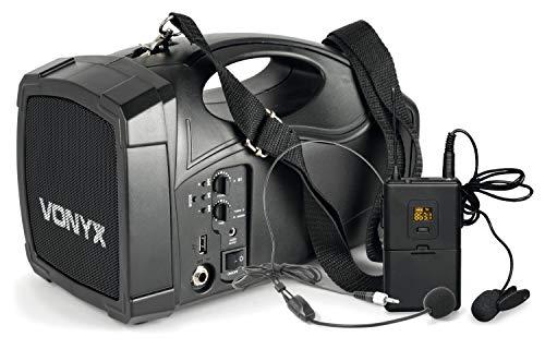 VONYX ST012 Megáfono con Micro inalámbrico y batería