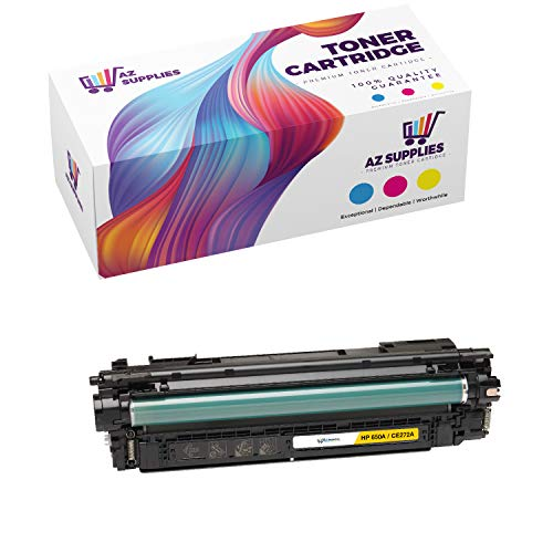AZ Compatible Toner Cartridge Replacement for HP 650A (CE272A) use in Color Laserjet CP5500 Color Laserjet CP5520 Color Laserjet CP5525 Color Laserjet CP5525DN Color Laserjet CP5525N (Yellow, 1-Pack)