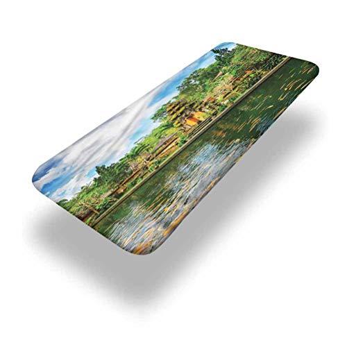 LCGGDB Mantel de poliéster balinés para mesa de pícnic con bordes elásticos, 61 x 121 cm, para mesa plegable al aire libre, interior y Acción de Gracias