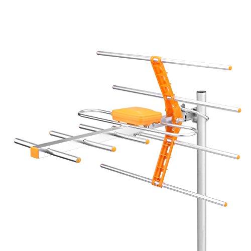 Winbang Antenne extérieure de TV, canaux élevés UHF de Wirth 21-69 de toit de grenier extérieur amplifié par antenne numérique amplifiée par antenne extérieure du gain HDTV d'antenne extérieure