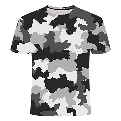 SHENSHI Camisetas Hombre,Camiseta De Secado Rápido para Exteriores, Camiseta Militar Deportiva De Manga Larga con Camuflaje Táctico 3D para Hombre, Estilo 7, X, Pequeña
