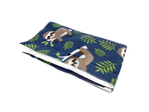 Guinea pig Fleece Lap Pad | Created by Laura | Happy Sloth | Waterproof and Absorbent | 20x20 inches