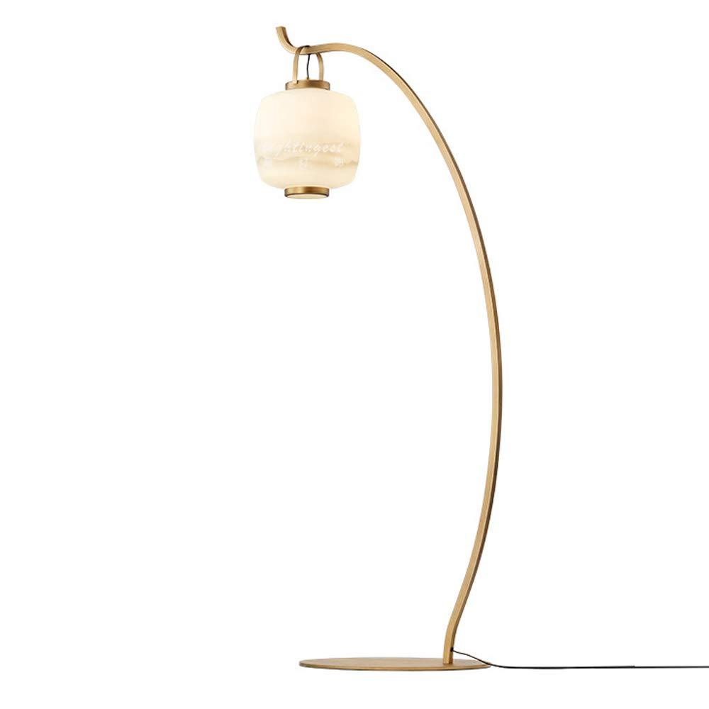 HKLY Lampara pie Dorada, Lampara pie Salon Bronce Lampara de pie Arco Retro Pantalla de Vidrio de Diseño de Linterna con Interruptor de Pie Iluminación Dormitorio Oficina Sala de Estar: Amazon.es: Hogar