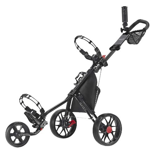 CaddyTek Deluxe 3 Wheel Golf Push Cart Version 3, CaddyLite 11.5 V3-Black