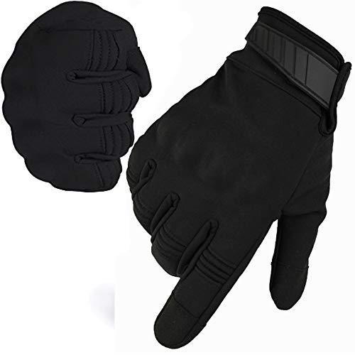 CZ-XING Guantes de invierno para motocicleta al aire libre, todos los dedos...
