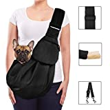 Lukovee Pet Sling, Hand Free Dog Sling Carrier Adjustable Padded Strap Tote Bag...