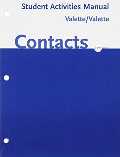Contacts: Langue Et Culture Francaises Student Activities...