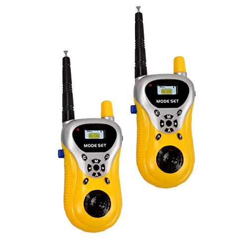 VGRASSP Walkie Talkie Toys for Kids 2 Way Radio Toy for 3-12 Year Old Boys Girls, Up to 20 Meter Outdoor Range Yellow