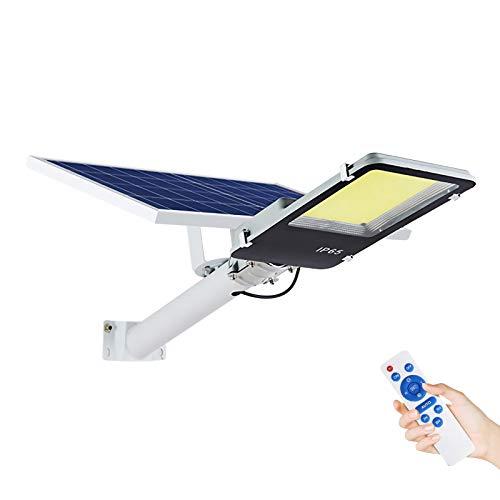 Farola solar LED para exteriores, 500 W de encendido / apagado automático Dusk until Dawn IP65 Luz solar impermeable con control remoto, reflectores de seguridad 6500K para jardín, senderos,600W