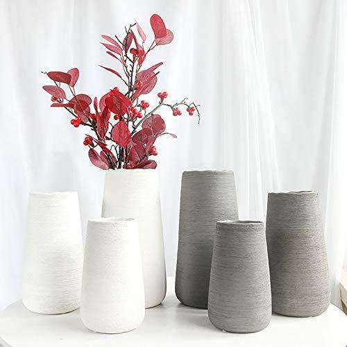 lynn Blumenvase, Vasen, grau, Heimdekoration, Keramik, weiß, nordischer Stil, Schlafzimmer, Innenbereich, Schreibtisch, für Zimmer, DIY, Hochzeitsdekoration