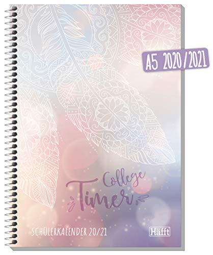Häfft College-Timer A5 2020/2021 [Dream] Schülerkalender, Schüler-Tagebuch, Schülerplaner inkl. Fun Facts, Sprüche, Sticker u.v.m. | nachhaltig & klimaneutral
