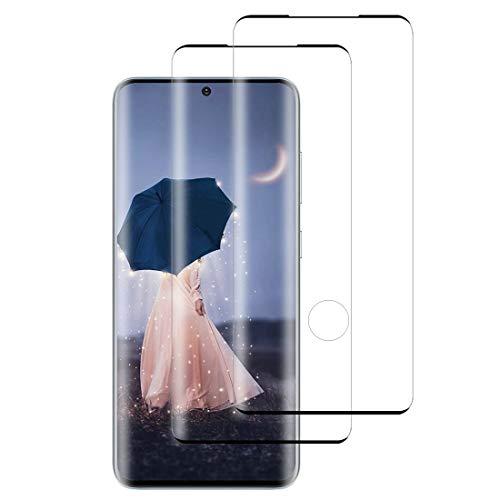 """XSWO [2 Pezzi Vetro Temperato Galaxy S20 Plus (5G 6.7""""), Protezione Schermo Samsung Galaxy S20 Plus [3D Copertura Completa] [Anti-Graffi] [HD Clear] [Durezza 9H] Pellicola Protettiva Vetro S20 Plus"""