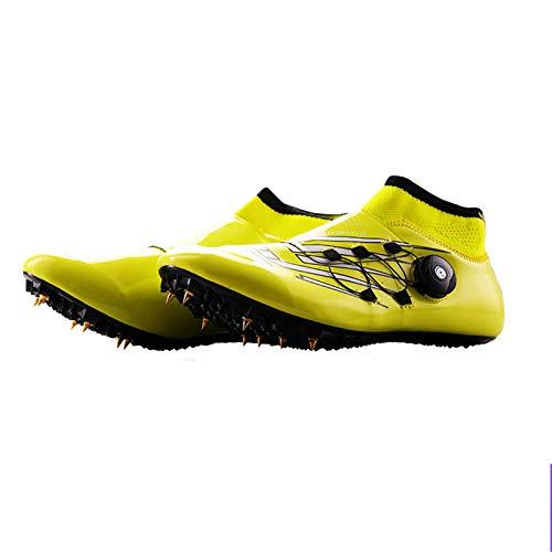 X/L Zapatillas de Atletismo Zapatillas de Carrera de Distancia con Clavos Zapatillas de Carreras de Atletismo para Hombres y Mujeres con Clavos Niños Niñas (Color : C, Size : 9.5 UK)