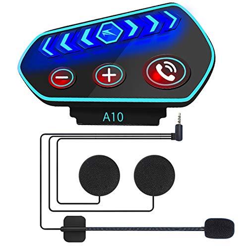 Timagebreze A10 Casco Auriculares Moto BT Interphone Motocicleta Casco Intercomunicador Auriculares EstéReo para TeléFono Celular