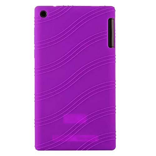 Silicon Case For Lenovo Tab 2 A7-10 A7-10F A7-20 A7-20F Soft Protect Shell For Lenovo Tab2 7.0 A7 20 Tablet case-Violet